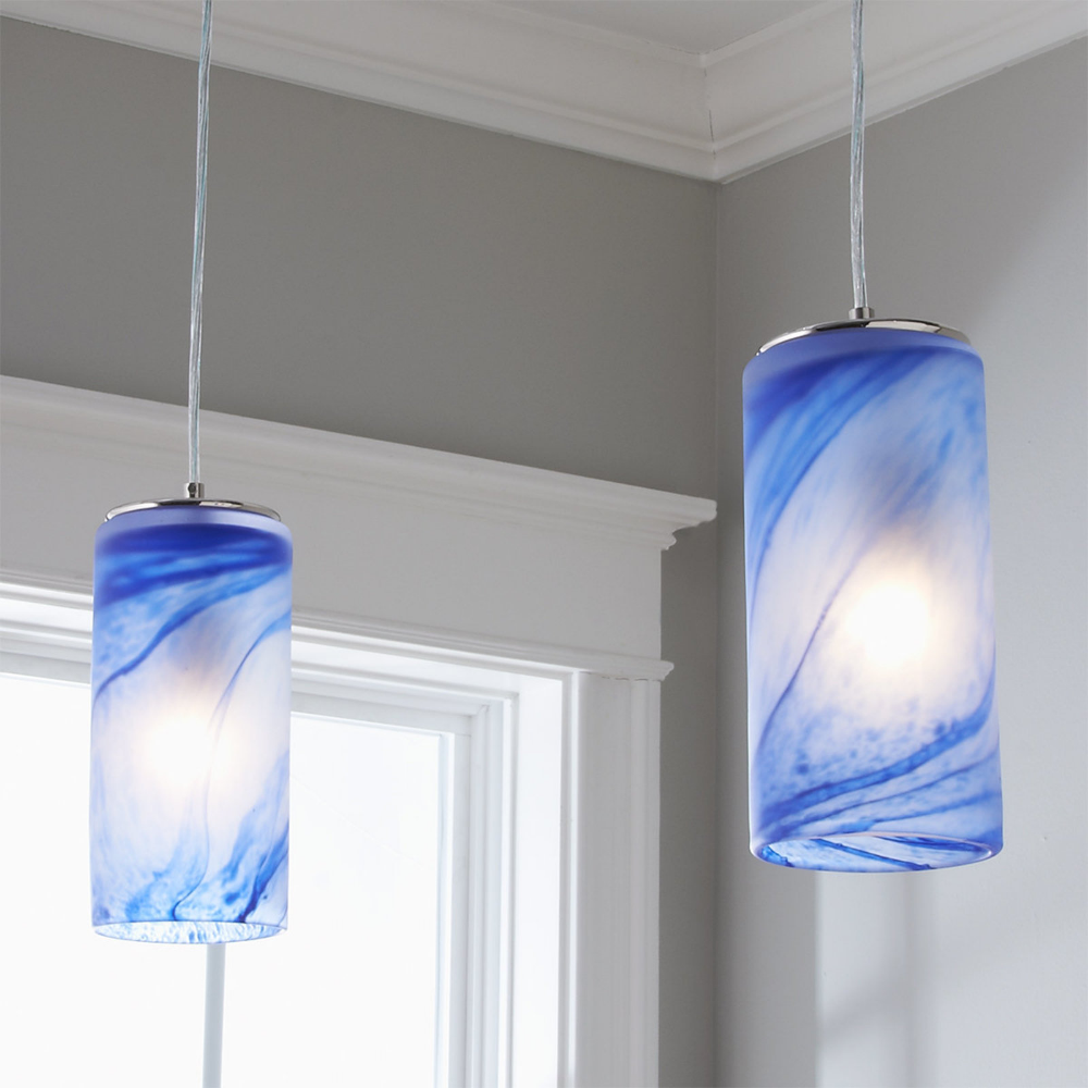 Indigo Wave Pendant Glass Pendant Light Blue Pendant Light