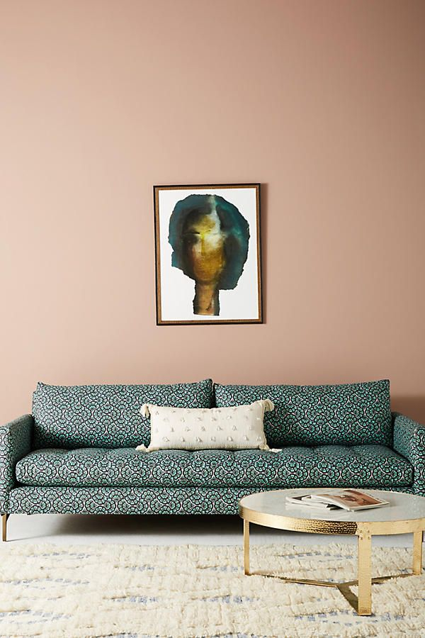 Liberty for Anthropologie Feather Fan Angelina Sofa | Interiors ...