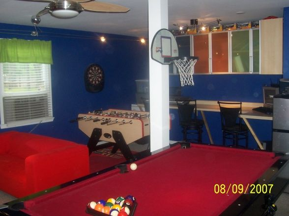 Garage Rec Room Conversion Rec Room Garage Game Rooms Garage Decor