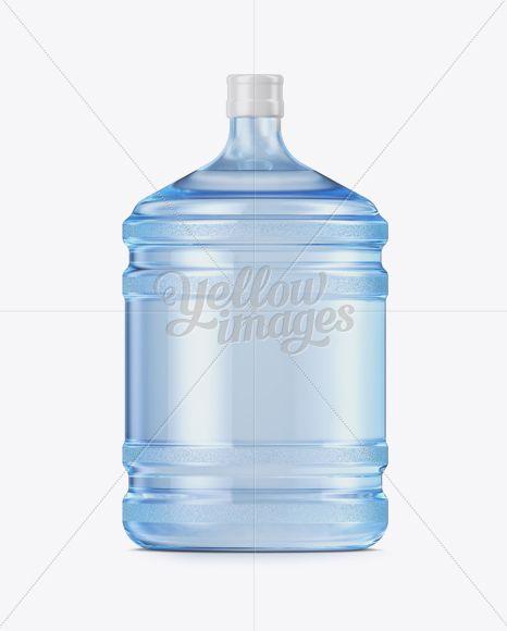 20l Plastic Water Bottle Mockup In Bottle Mockups On Yellow Images Object Mockups Bottle Mockup Bottle Plastic Water Bottle