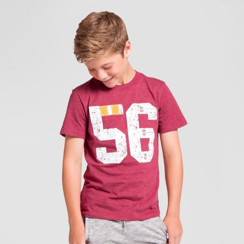 "Boys' Applique ""56"" Graphic T-Shirt Cat & Jack - Cherry Xxl, Boy's, Red"