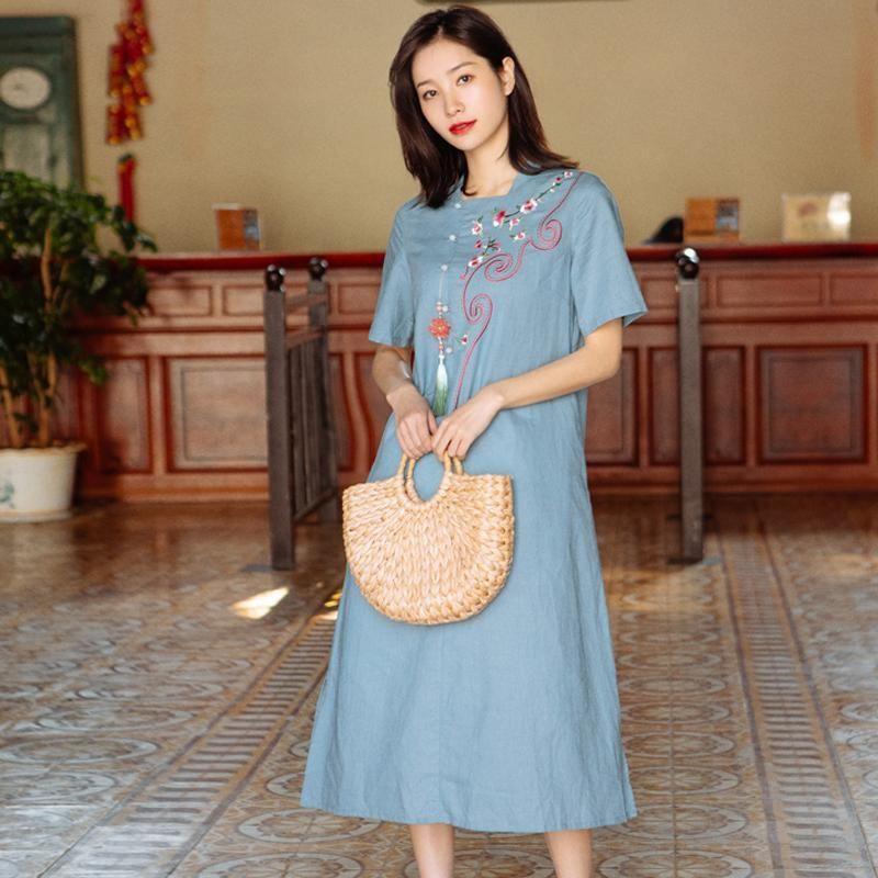 e9c33a497397 Type:Dress Length: Middle-Length Collar type: Round Neck Waist type: