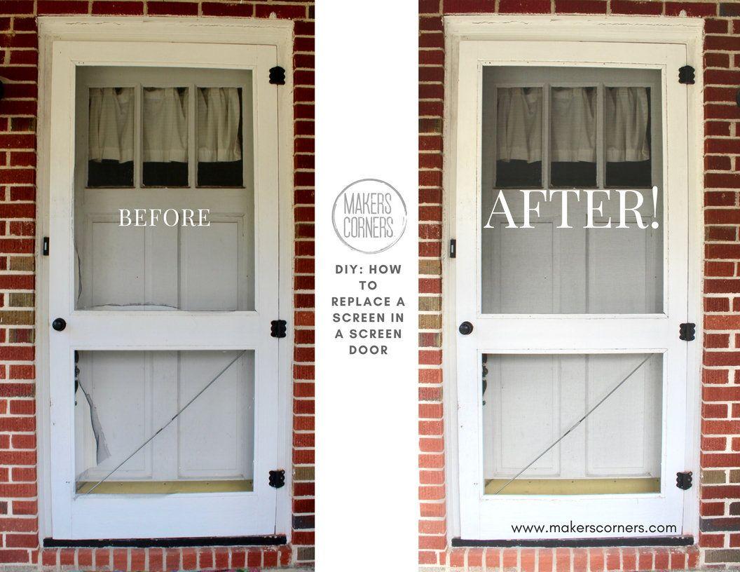 Diy How To Replace The Screen In A Screen Door Diy Makers