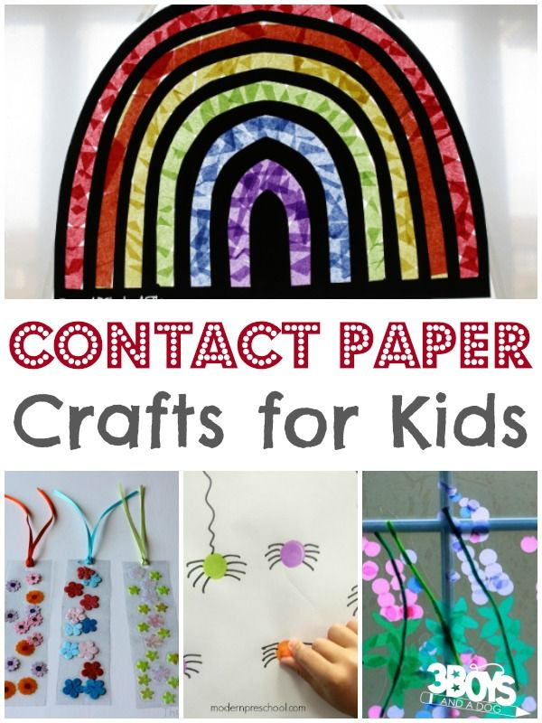 Kids Contact Paper Crafts Kid Crafts Pinterest Contact Paper