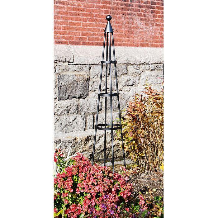 Obelisk Trellis (tuteur) au jardin Pinterest Garden