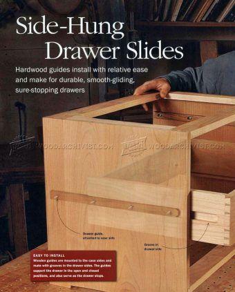 2841 Diy Wooden Drawer Slides Drawer Construction Drawer