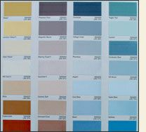 Color Chart Selections - First Class Coatings, Inc.