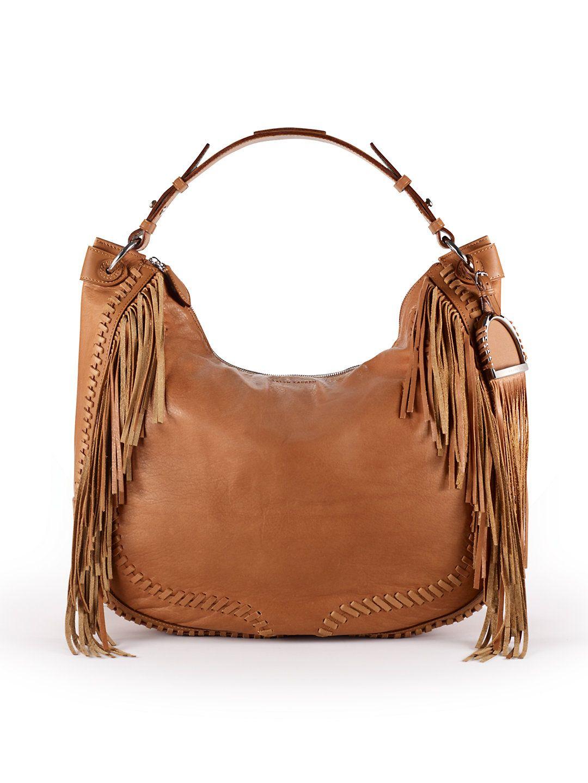 44b3e2431bc9 Ralph Lauren Whipstitched Hobo Handbag