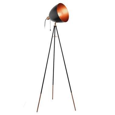 EGLO lampadaire Chester - noir/couleur cuivre