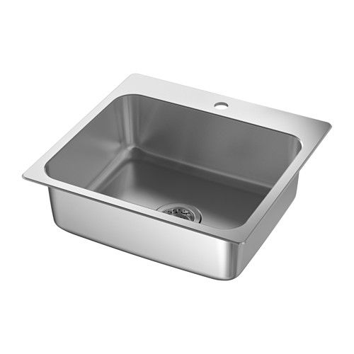 Langudden Sink Stainless Steel Ikea In 2020 Sink Sink Accessories Inset Sink