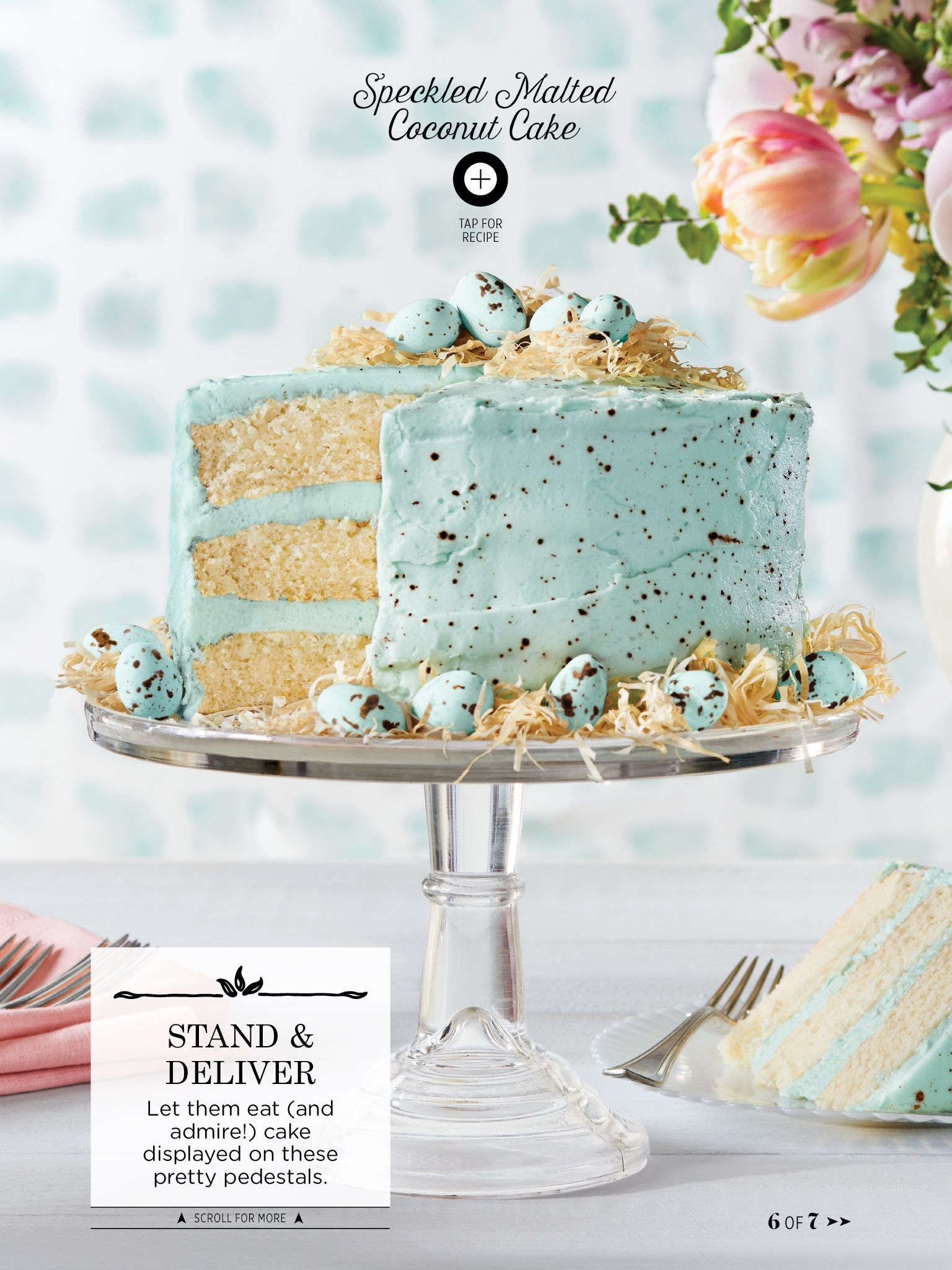 I've got heart eyes for this gorgeous Soeckled Malted Cococnut Cake from the April 2016 issue of @countryliving.   http://bit.ly/1izmcxL