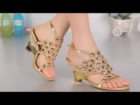 3f044034afbf Latest Stylish Flat Shoes Fashion Design for Women Girls 2017-2018 - YouTube