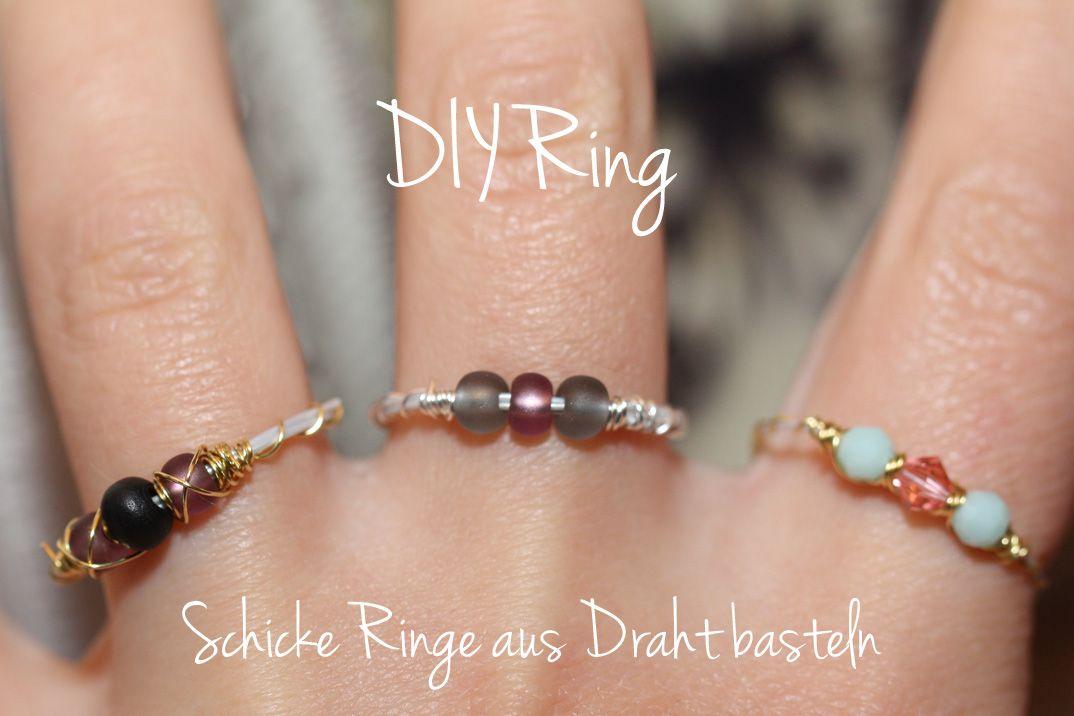 diy ring schicke ringe aus Draht basteln | Rings | Pinterest | Diy ...