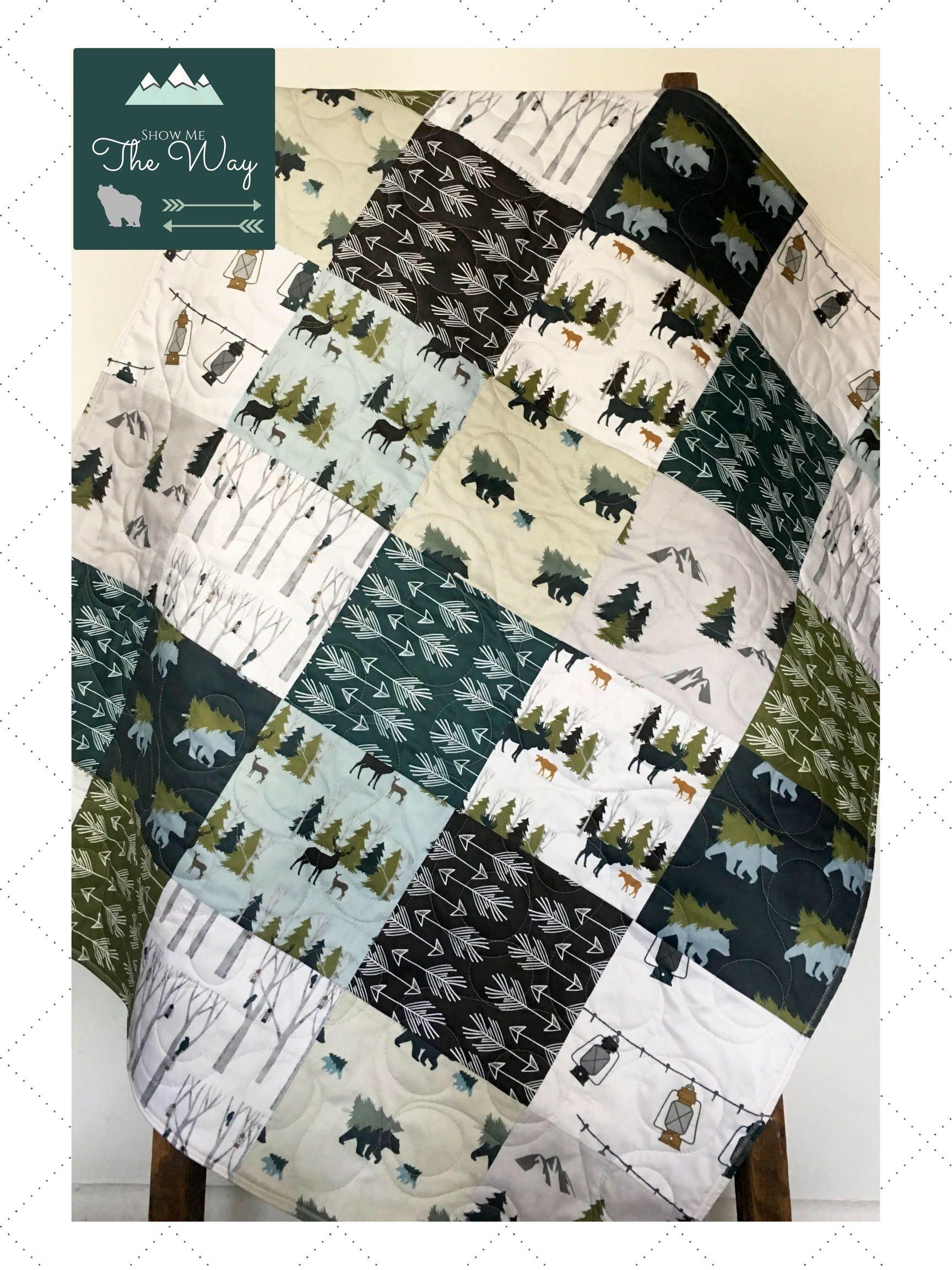 Woodland Bedding Set Boy, Organic Baby Quilt, Baby Bedding Set ... : organic baby quilt - Adamdwight.com