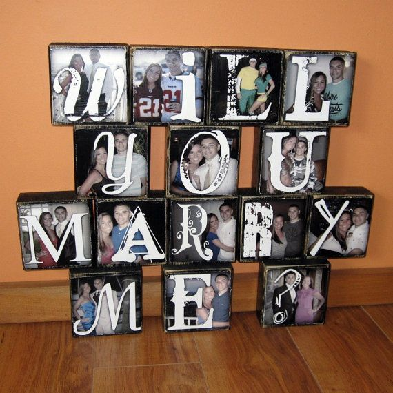 Personalized Photo Blocks Propose With Pictures Of You And Your