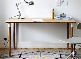 Stijlvol hilver bureau van bamboe mijndroomhuisje