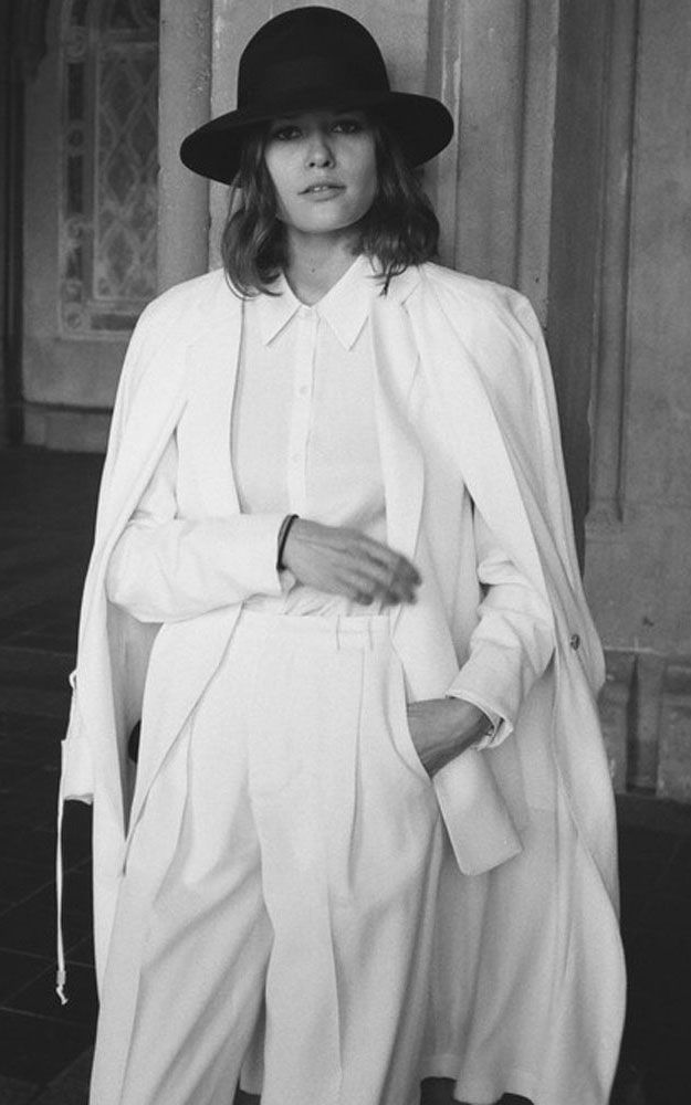 David Michael White Femme Blazer, Pleat Trouser, and Fenmme Blouse