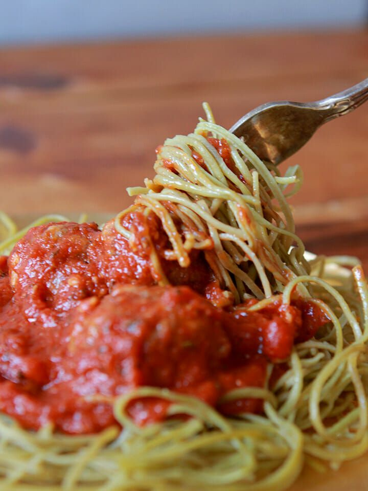 Edamame pasta with meatballs resolution eats in 2020