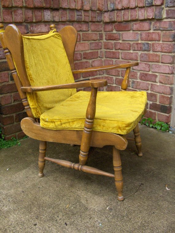 Chair Vintage American Maple Wood Wing Back Chair Armchair Lounge