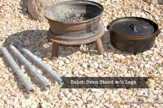 How To Make A Dutch Oven Stand With Recycled Items Dutch Oven Cooking Dutch Oven Survival Food