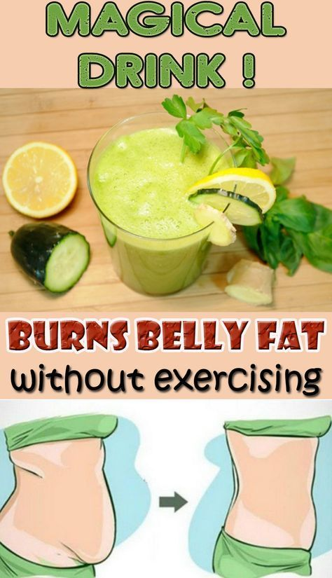 magical drink that burns belly fat without exercising