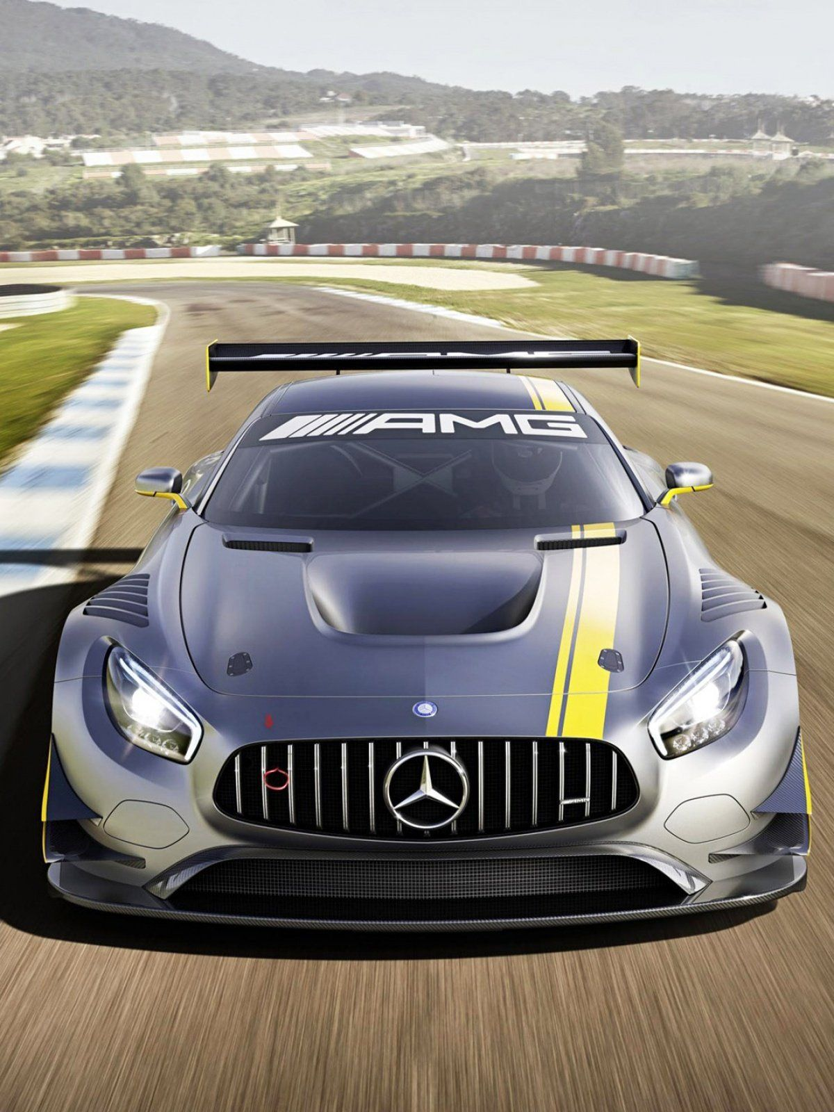 2015 Mercedes Benz Amg Gt3 Racing Car Mobile Wallpaper With