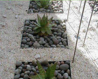Jardines de cactus y suculentas Pequeos patios Paisajismo