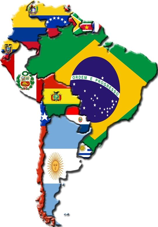 Banderas America Latina America Do Sul A Chegada Dos