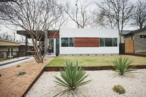Super Geometric Xeriscaping House Landscape Modern Landscaping Modern House