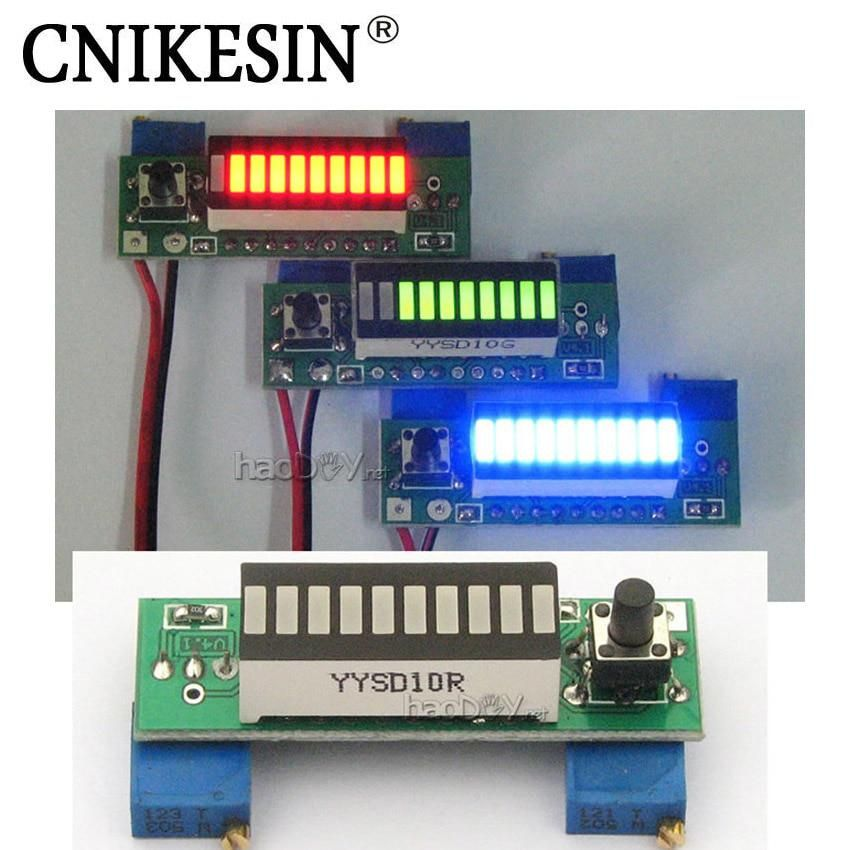 LM3914 Battery Capacity Power Level Blue LED Indicator for Li-ion Battery 3.7V