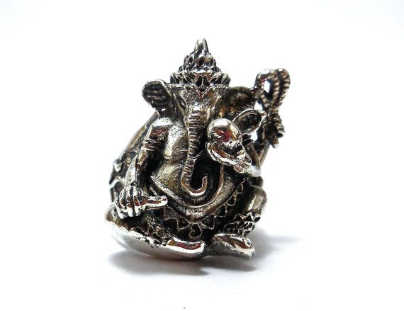 925 Sterling Silver  Ganesha ring All Size by Siamhandmade2014