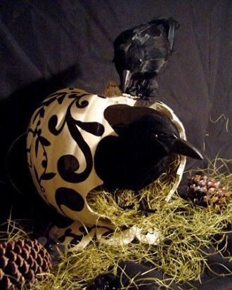 "See the ""Crow Pumpkin"" in our  gallery"