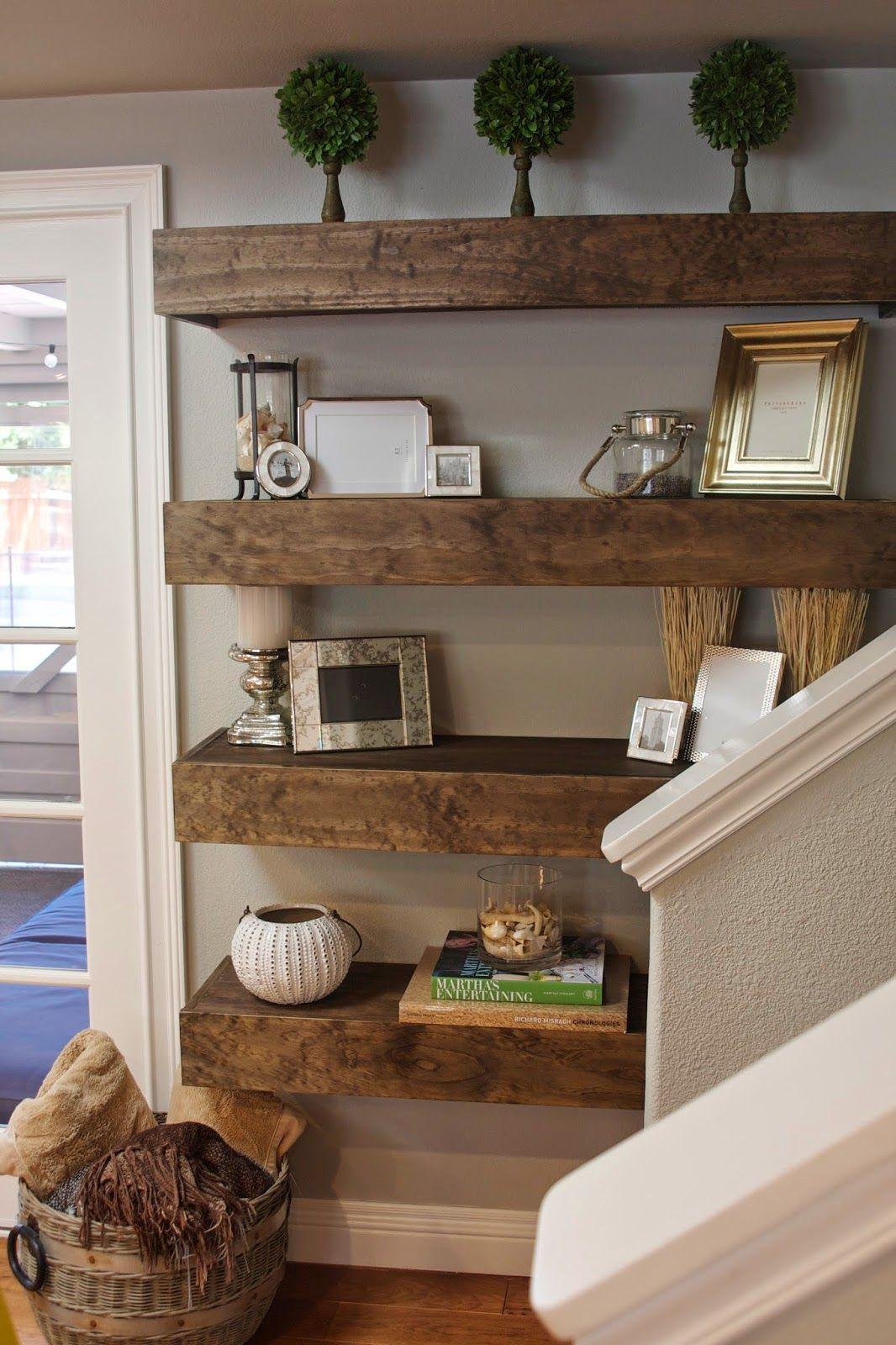Simple DIY Floating Shelves Tutorial + Decor Ideas