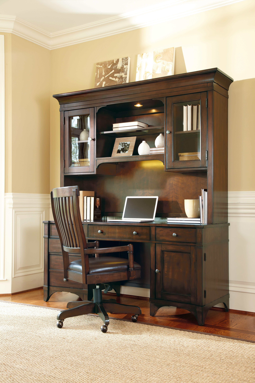 Hooker Furniture Abbott Place Computer Credenza Hutch (C) 637 10 467
