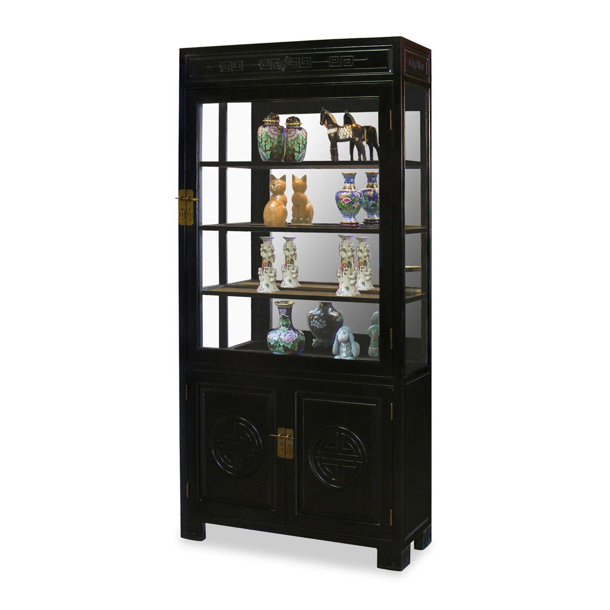 Best 40In Elmwood Longevity Design China Cabinet Upper 400 x 300