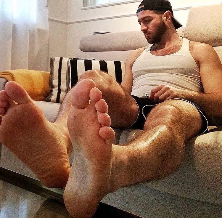 Foot gay man
