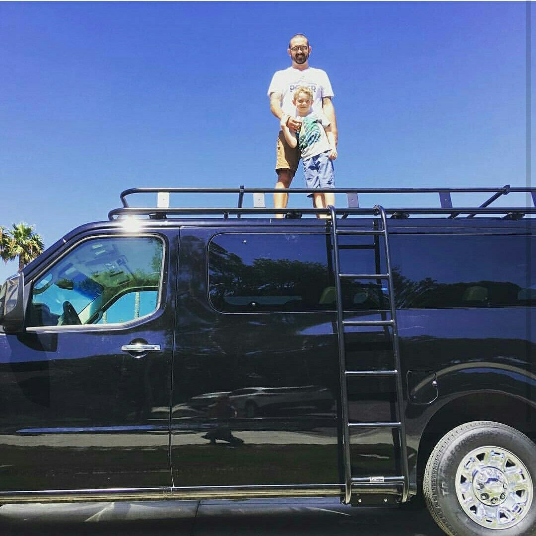 New #aluminess Roof Rack And Ladder On A Nissan NV