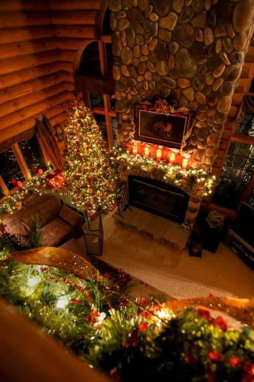 Soul of Simplicity Log Cabins and Rustic Homes Pinterest Cozy - country christmas decorations