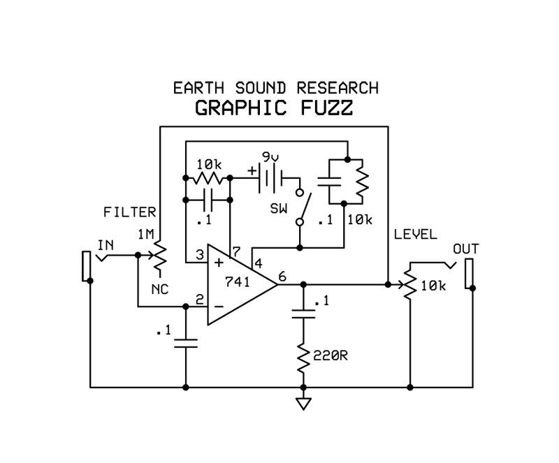 Earth Sounds Research Graphic Fuzz Schematic