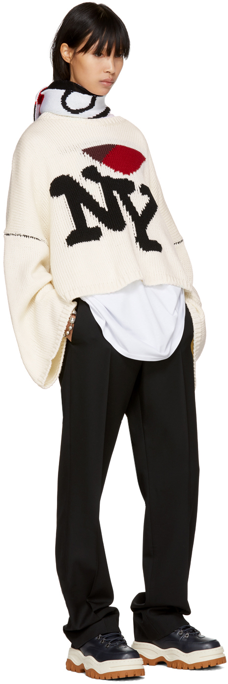 Raf Simons Off White Oversized I Love Ny Sweater Womens