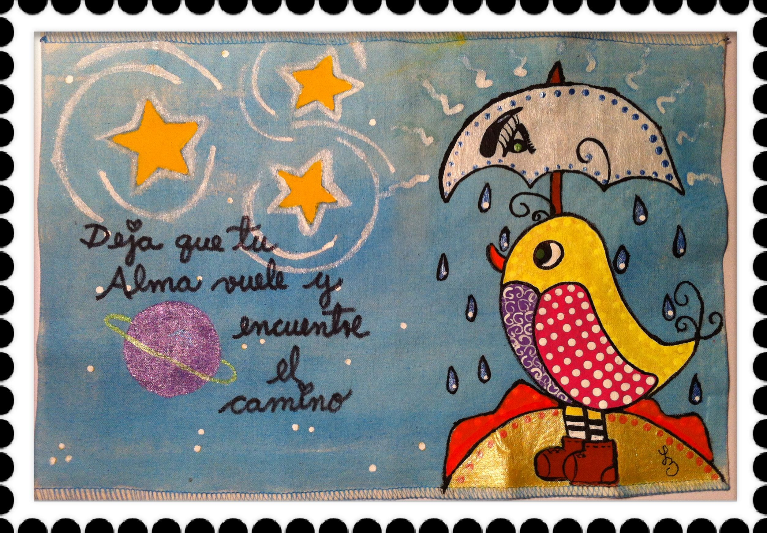 Sun Moon And Stars Cover Hand Painted Forro Para Cuaderno