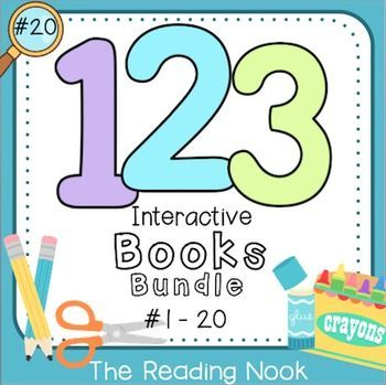 Number 1-20 Interactive Books | Maths, Primary maths and Elementary math