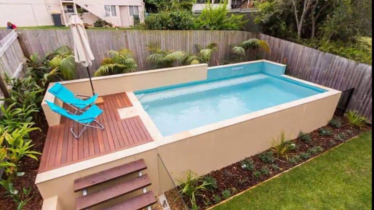 44 Small Backyard Above Ground Pool Ideas Backyard Gardenpool Gardenpoolbackground Garden Small Above Ground Pool Small Backyard Pools Small Swimming Pools