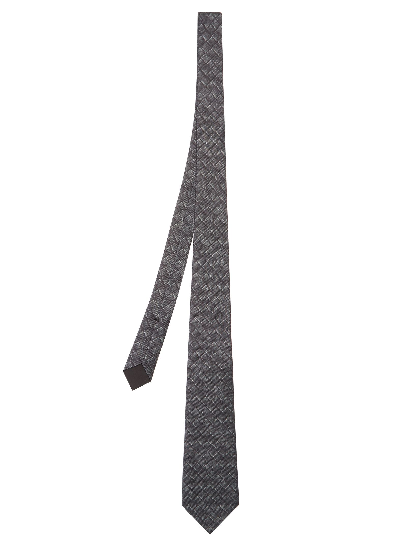 cb516da0afe3d BOTTEGA VENETA INTRECCIATO-PRINT SILK AND COTTON-BLEND TIE.  bottegaveneta