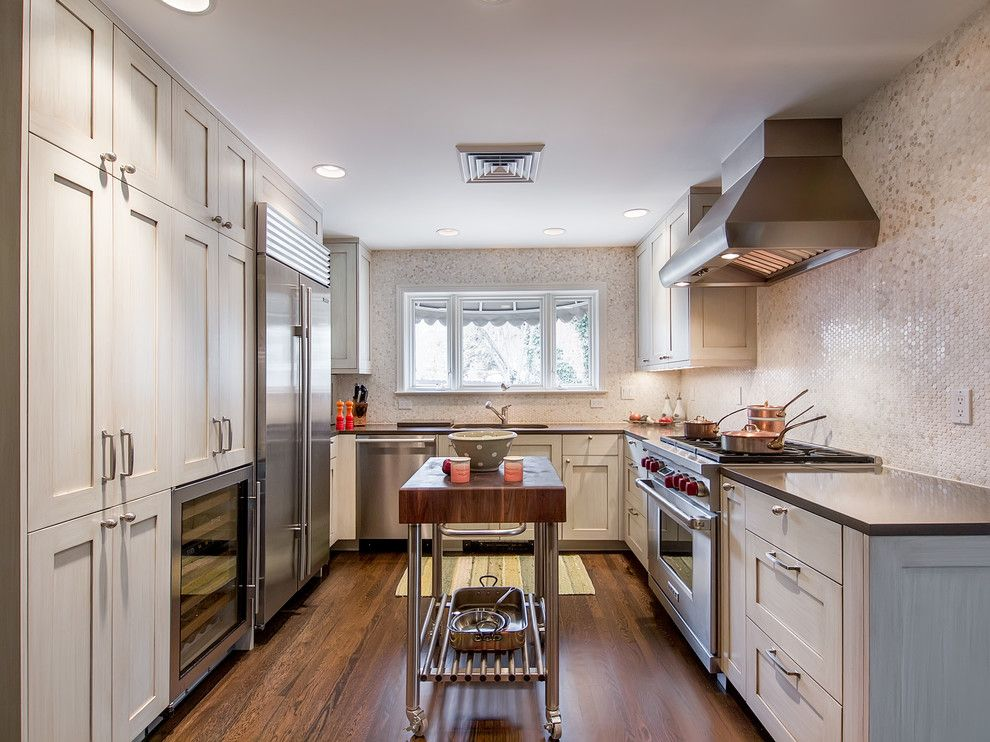 Sumptuous Butcher Block Kitchen Island In Kitchen Contemporary With Kitchen  Island Extension Idea Next To Small U Shaped Kitchen Alongside Small Condo  ...