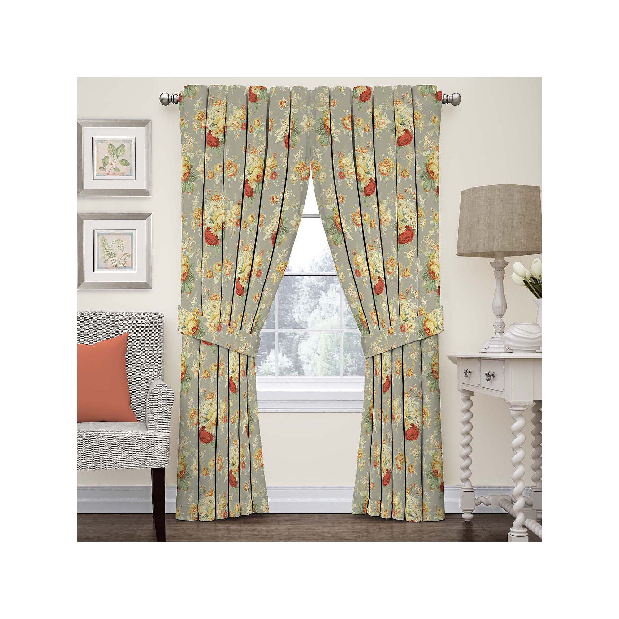 Waverly 1 Panel Sanctuary Rose Floral Window Curtain Rose