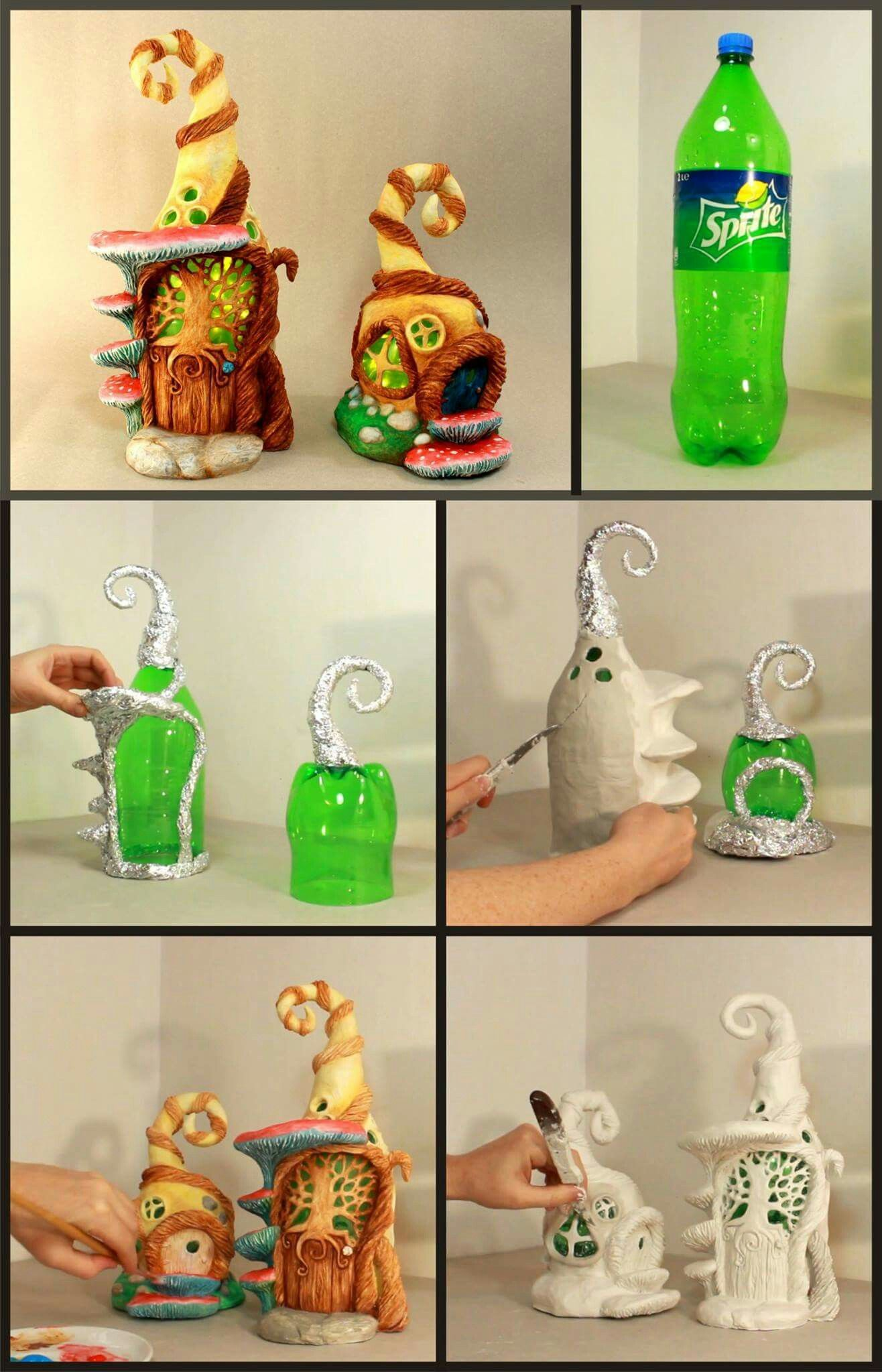Paper mache' -- good medium to | | Diy's | Fairy houses