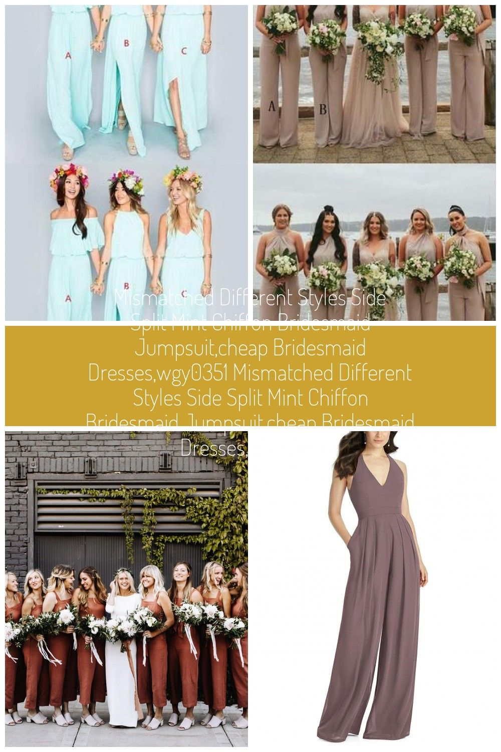 Mismatched Different Styles Side Split Mint Chiffon Bridesmaid Jumpsuit,Cheap Bridesmaid Dresses,WGY0351 #bridesmaid #bridesmaiddresses #longbridesmaiddresses #wedding #2019bridesmaiddresses #simplebridesmaiddresses #bridesmaid jumpsuit Mismatched Different Styles Side Split Mint Chiffon Bridesmaid Jumpsuit,Cheap Bridesmaid Dresses,WGY0351 Mismatched Different Styles Side Split Mint Chiffon Bridesmaid Jumpsuit,Cheap Bridesmaid Dresses,WGY0351 #bridesmaidjumpsuits