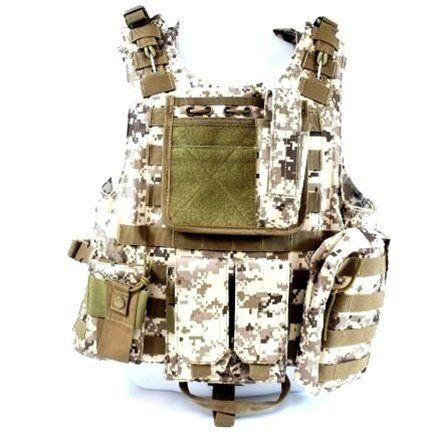 Diamond Tactical MOLLE StrikeForce Modular Plate Carrier Loaded w/ 6 Integrated Pouches & Armor Plate Ready - Ultra High Quality Operator Grade 600D Rugged Construction - Digital Desert Tan by Diamond, http://www.amazon.com/dp/B005CK9ZVI/ref=cm_sw_r_pi_dp_wv4Mpb12616AR