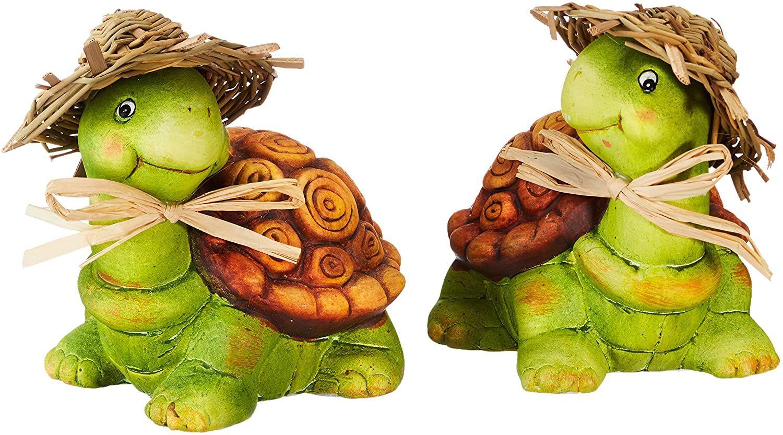 Heitmann Deco Keramik Schildkroten Dekofiguren Deko Fur Haus Garten Und Teich Bunt Bemalt 2er Set In 2020 Deko Schone Deko Schildkrote